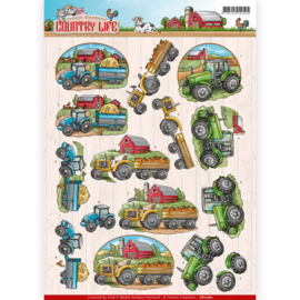 3D Knipvel - Yvonne Creations - Country Life - Tractors   CD11061