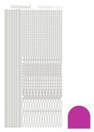 Hobbydots sticker - Mirror Pink 3
