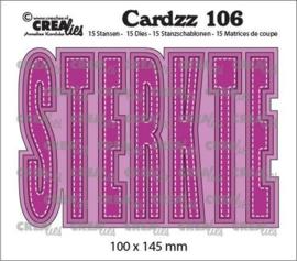 Crealies Cardzz STERKTE (NL) CLCZ106 100x145 mm