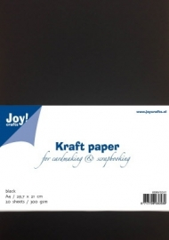 8089/0241 Kraftpapier 300gr - zwart A4  10 vel