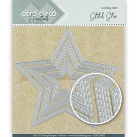 Card Deco Essentials Cutting Dies Stitch Star  CDECD0032 ca. 12,3 x 11,7 cm (3-delig)