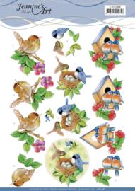3D Cutting Sheet - Jeanine's Art - Birds  CD11586