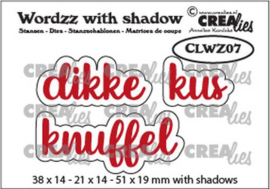 Crealies Wordzz with Shadow Dikke kus (NL) CLWZ07 51x19mm