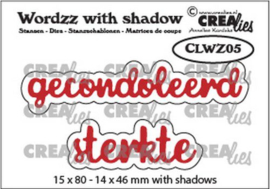 Crealies Wordzz with Shadow Gecondoleerd sterkte (NL) CLWZ05 15x80mm