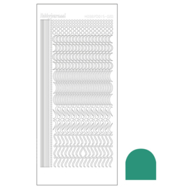 Hobbydots sticker 20 - Mirror Turquoise