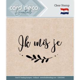 Card Deco Essentials - Clear Stamps - Ik mis je  CDECS045
