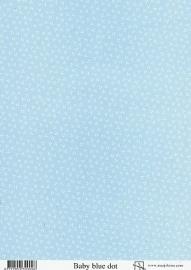 achtergrondvel Marjoleine blauwe stip