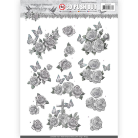 3D Pushout - Amy Design - Words of Sympathy - Sympathy Roses   SB10313