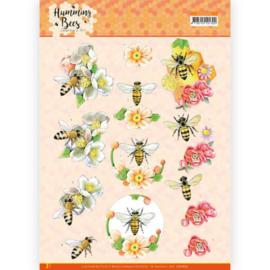 3D Cutting Sheet - Jeanine's Art - Humming Bees - Bee Queen CD11675