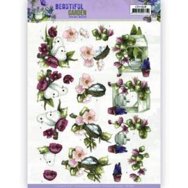 3D Cutting Sheet - Precious Marieke - Beautiful Garden - Pigeon  CD11638 - HJ19401