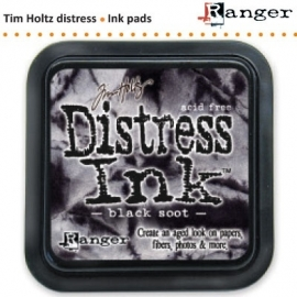 Tim Holtz distress ink pad black soot 19541