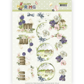 3D Knipvel - Precious Marieke - Happy Spring - Happy on the Farm   CD11263