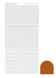 Hobbydots sticker - Mirror Brown 8