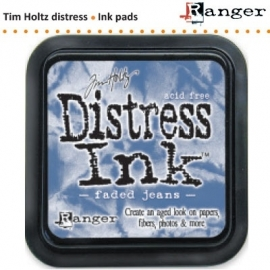 Tim Holtz distress ink pad faded jeans 21452