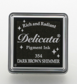 Delicata small Inkpads Dark brown shimmer  DE-SML-354