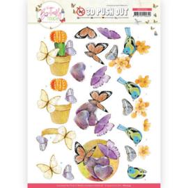 3D Push Out - Jeanine's Art - Butterfly Touch - Orange Butterfly  SB10544