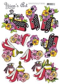 3D cutting sheet - Yvon's Art - Handbag Perfume  CD11524