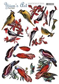 3D Knipvel - Yvon's Art - Birds   CD11304
