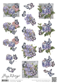 3D knipvel - Amy Design - Hortensias   CD11093