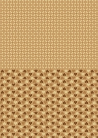 NEVA001 background sheets A4 brown hearts