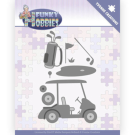 Dies - Yvonne Creations - Funky Hobbies - Golf  YCD10229  Formaat ca. 8 x 10 cm