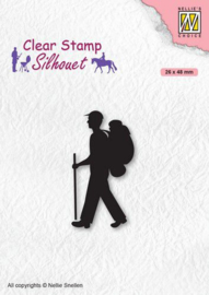 Nellies Choice Clearstempel - Silhouette Backpacker SIL067