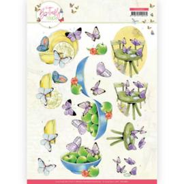 3D Cutting Sheet - Jeanine's Art - Butterfly Touch - Purple Butterfly  CD11661