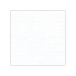 Linnenkarton - Oplegkaartjes -  Wit -Linnenpersing 180 grams verpakt per 25 stuks   12.8 x 12.8 cm