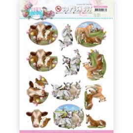 3D Push Out - Amy Design - Enjoy Spring - Farm Animals SB10542