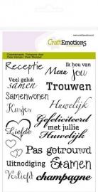 CraftEmotions clearstamps A6 - tekst NL huwelijk 1151