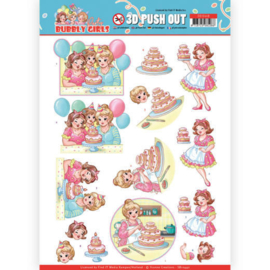 3D Pushout - Yvonne Creations - Bubbly Girls - Party - Baking SB10440