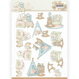 3D cutting sheet - Yvonne Creations - Newborn - Baby Rocking Horse  CD11629