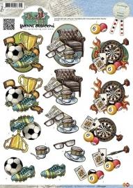 CD10340 3D Knipvel - Yvonne Creations - Men - Sports