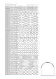 STDA110 Hobbydots sticker - Adhesive - White