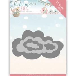 Dies - Yvonne Creations - Welcome Baby - Nesting Clouds  YCD10137