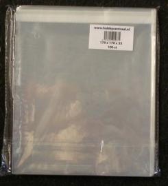 Vierkante Kaartenzakjes met plakstrip 100st 170x170