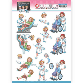 3D Push Out - Yvonne Creations - Bubbly Girls Professions - Nurse SB10548