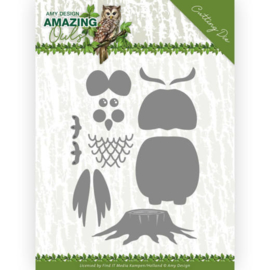 Dies - Amy Design - Amazing Owls - Build up Owl  ADD10216  Formaat ca. 9,5 x 14,2 cm