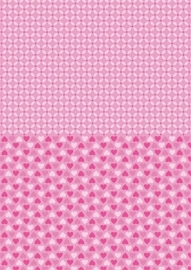 NEVA006 background sheets A4 pink hearts