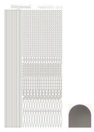Hobbydots sticker - Mirror - Silver  nr.3