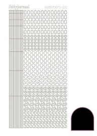 Hobbydots sticker 10 - Adhesive - Black
