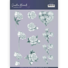 3D Cutting Sheet - Jeanine's Art - Sensitive Moments - Grey Calla Lily  CD11523