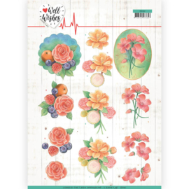 3D Cutting sheet - Jeanine's Art - Well Wishes - A Bunch of Flowers  CD11461