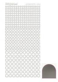 Hobbydots sticker serie 8  - Mirror - Silver