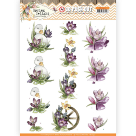 3D Pushout - Precious Marieke - Spring Delight - Purple Crocus   SB10422