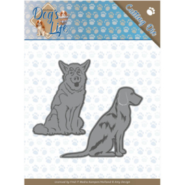 Dies - Amy Design - Dogs - Sitting Dogs  ADD10189  Formaat ca. 12,6 x 7,8 cm