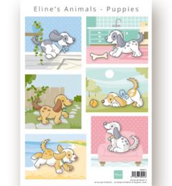 AK0079 - Decoupage - Eline's Animals Puppies