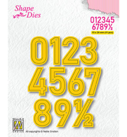 SD177 - Numbers Large 16x24mm (11 pcs)