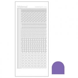Hobbydots sticker - Mirror Purple  nr.19