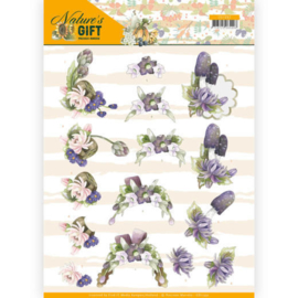 3D knipvel - Precious Marieke - Nature's Gift - Purple Gift   CD11352